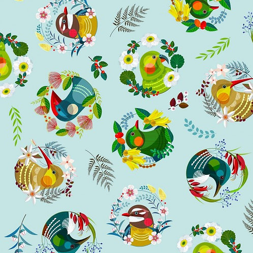 Nutex Novelty Feathered Friends 80460 Col2 Quilt Fabric