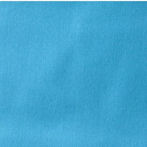 Turquoise Blue Homespun Cotton Quilt Fabric