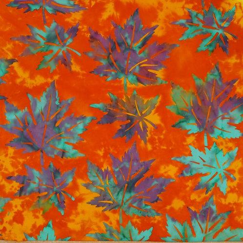 Mirah Zriya Casablanca Batik Glorious Orange P/CN-03-5715 Quilt Fabric
