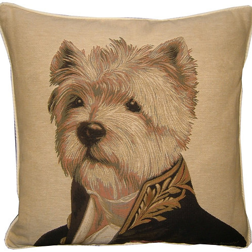 Thierry Poncelet Westie West Highland Terrier Tapestry Cushion Cover
