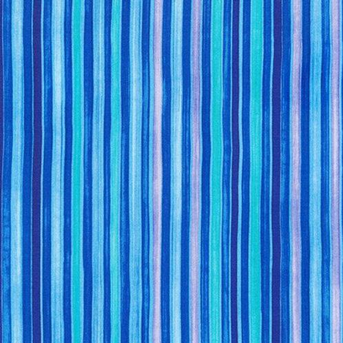 Robert Kaufman Synchronicity Stripe Caribbean 18694-257 Quilt Fabric