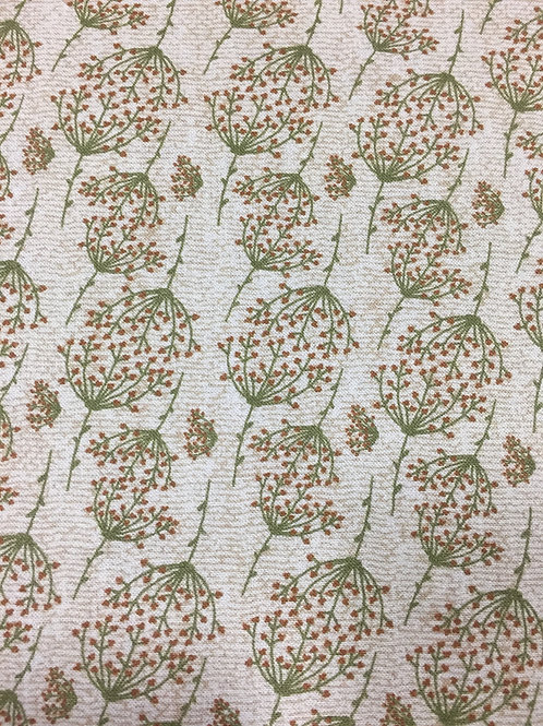 "Lynette Anderson ""Swan Cottage"" Sprig Brown 80450 Col12 Quilt Fabric"