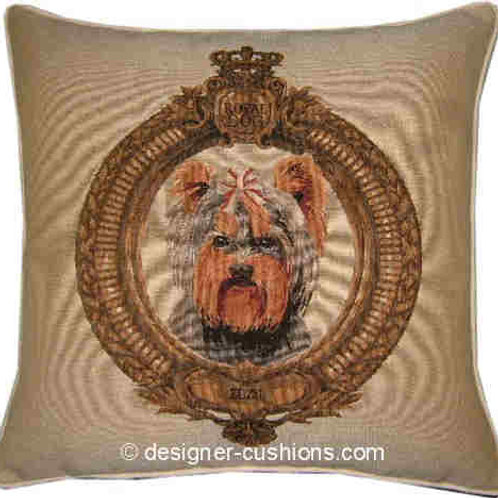 Royal Yorkshire Terrier Tapestry Cushion Cover