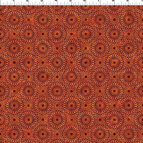 """Jason Yenter """"Cosmos"""" Orange Starburst 7COS-2 Quilt Fabric"""