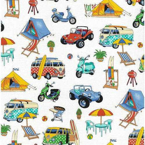 Nutex Novelty Getaway Beachside 89510/2 Quilt Fabric