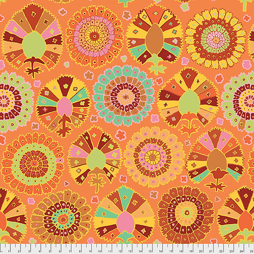 Kaffe Fassett Spring 2019 - Turkish Delight Gold PWGP081 GOLD Quilt Fabric