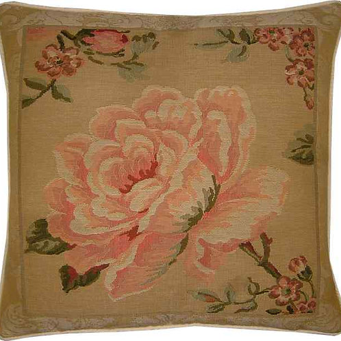 Rose Facing Left Tapestry Cushion Cover