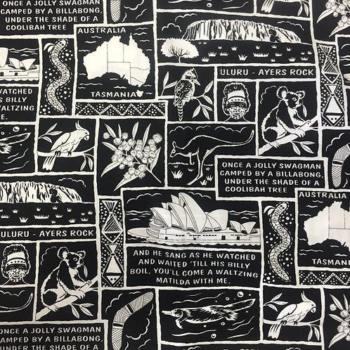 Nutex Australiana Australian Icons Quilt Fabric