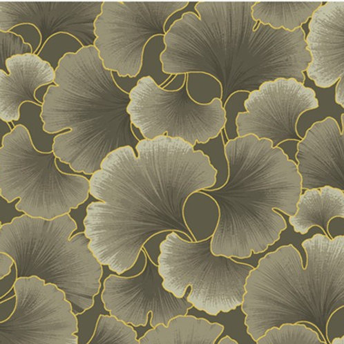 Kona Bay Ginkgo Tonals Taupe Quilt Patchwork Fabric