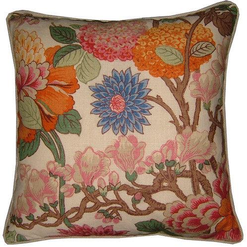 G P & J Baker 'Magnolia' Linen Cushion Covers