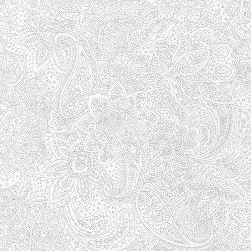 Robert Kaufman Whisper Metallics Blanc Floral 19222-303 Quilt Fabric
