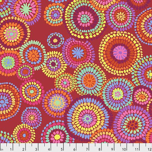 Kaffe Fassett Feb2020 - Mosaic Circles PWGP176 RED Quilt Fabric