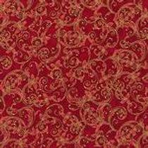 Robert Kaufman Winters Grandeur Cardinal SRKM-15887-94 Metallic Quilt Fabric
