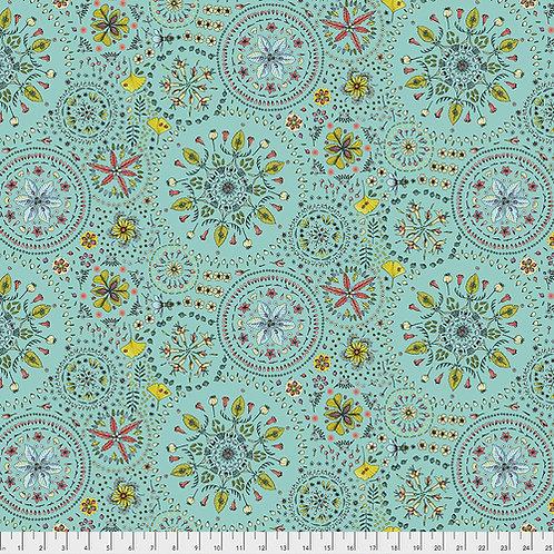 Odile Bailloeul Land Art Fairy Circles Bleu PWOB019.BLEU Quilt Fabric