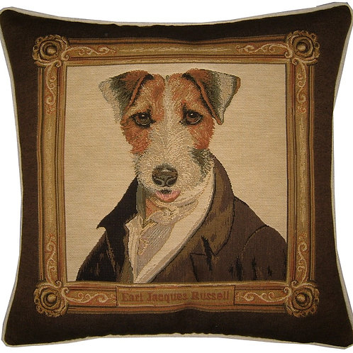 Thierry Poncelet Fox Terrier Framed Tapestry Cushion Cover