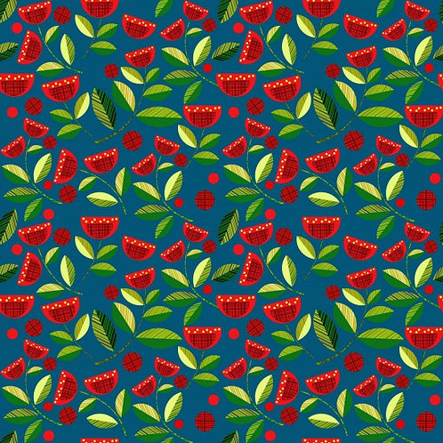 Nutex Novelty Forest Song Pohutukawa Quilt Fabric 89590 Col3