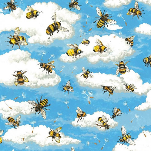 Nutex Novelty Bee Haven Bees 89810 Col2 Quilt Fabric