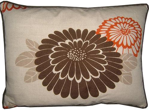 "Romo Katsura Chocolate & Orange 45x35cm (18x13"") Oblong Cushion Cover"
