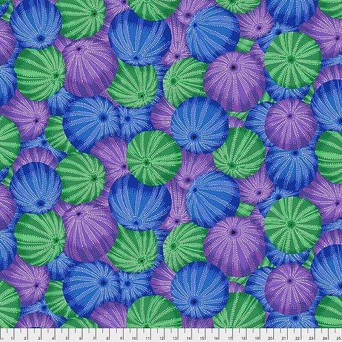 Kaffe Fassett Spring 2019 - Sea Urchins Blue PWPJ100 BLUE Quilt Fabric