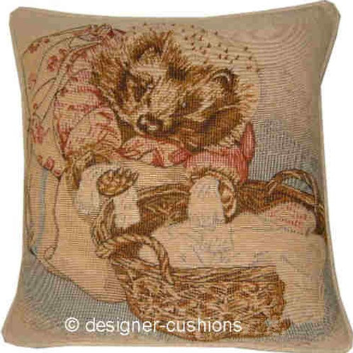Beatrix Potter Mrs Tiggywinkle Tapestry Cushion Cover
