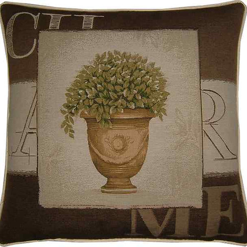 Charme Tree in Pot Design #3 Tapestry Cushion Cover