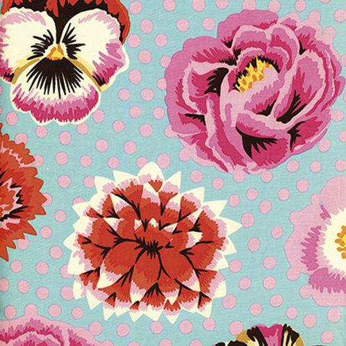 Kaffe Fassett Classics - Big Blooms Duck Egg GP91 DUCK Quilt Fabric