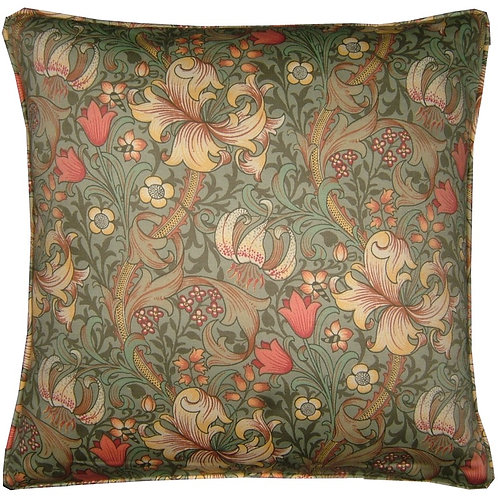 William Morris Golden Lily Minor Green Cushion Cover