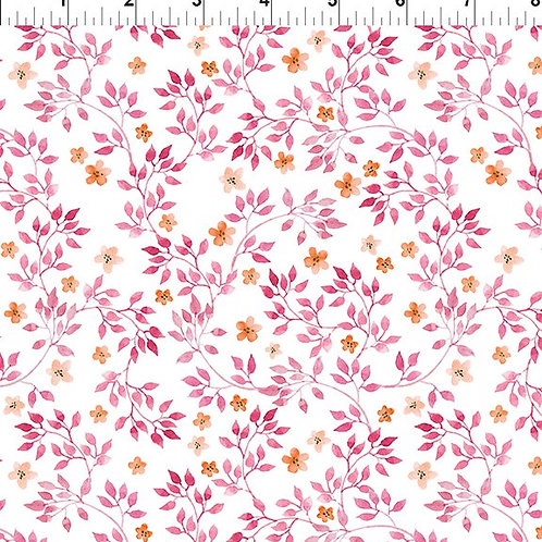 In the Beginning 'Pretty in Pink' Pink Sprig 5PIP-1 Quilt Fabric