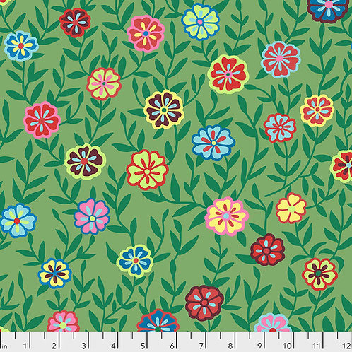 Kaffe Fassett Feb2020 - Busy Lizzy PWGP175 GREEN Quilt Fabric
