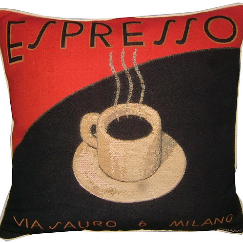 Espresso Coffee Tapestry Cushion Cover