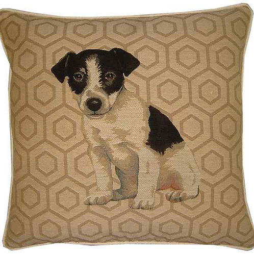 Jack Russell Hexagon Tapestry Cushion Cover