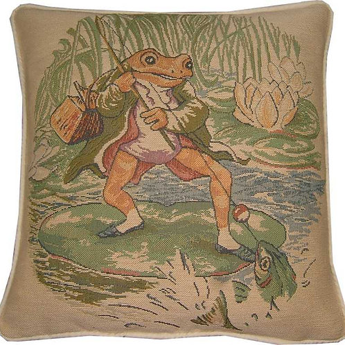 Beatrix Potter Jeremy Fisher Tapestry Cushion Cover
