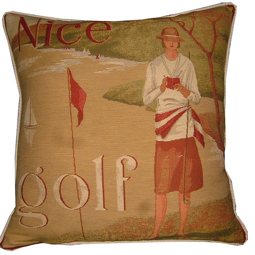 Nice Golf Lady Tapestry Cushion Cover
