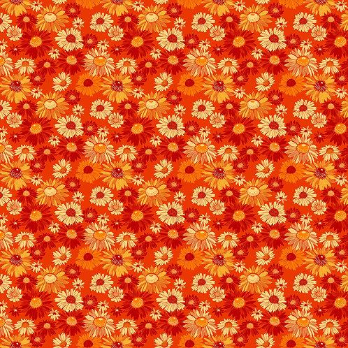 Figo Flora Orange Floral 90146-56 Quilt Fabric