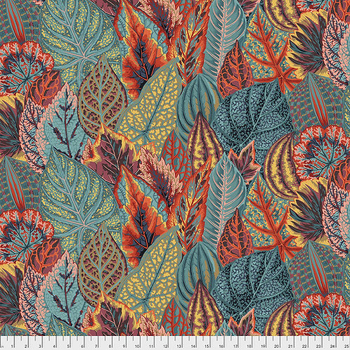 Kaffe Fassett Feb2020 - Coleus PWPJ030 TEAL Quilt Fabric