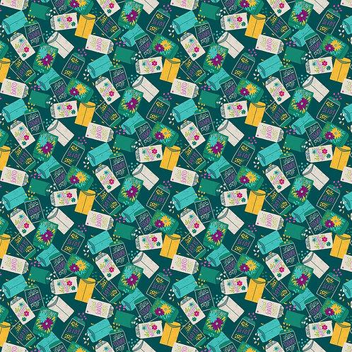 Figo Flora Green Seeds 90148-78 Quilt Fabric