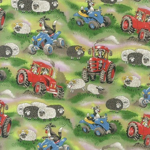 Nutex Novelty Field Days Novelty Quilt Fabric 89410