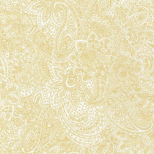 Robert Kaufman Whisper Metallics White Floral 19222-1 Quilt Fabric