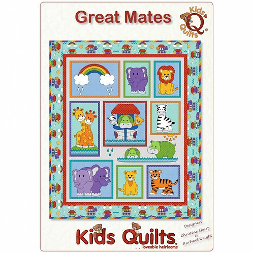 Kids Quilts 'Great Mates' Cot Quilt Pattern
