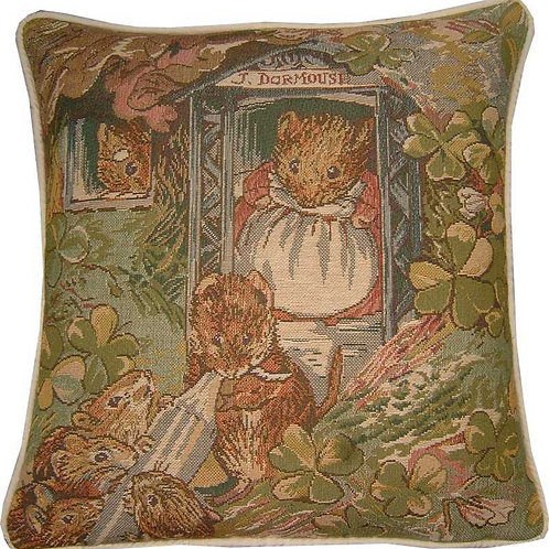Beatrix Potter J Dormouse Tapestry Cushion Cover
