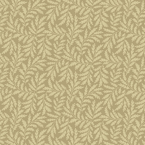 Andover 'Hat Box' Cream Leaves 93560 Col5 Quilt Fabric