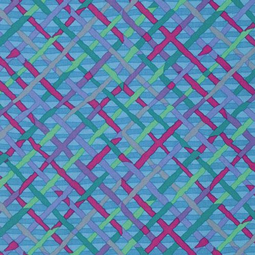 Kaffe Fassett Classics - Mad Plaid Turquoise PWBM037 TURQU Quilt Fabric