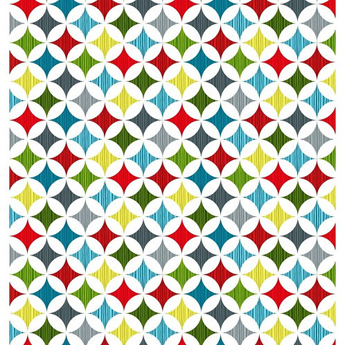 Nutex Early Birds Star Multi 80050 Col 3 Quilt Fabric