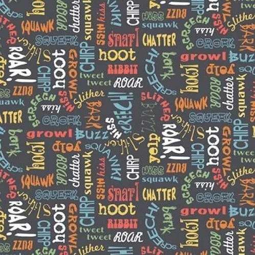 Makower UK Jungle Animals Novelty Quilt Fabric Col 6