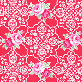 Lecien Flower Sugar Red Floral 31377-30 Quilt Fabric