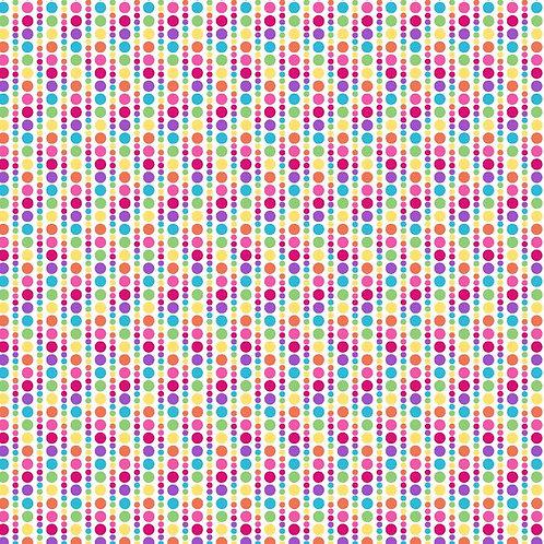 "PB Textiles ""Bloom"" Multicoloured Spots Quilt Fabric 4722.26686MUL1"