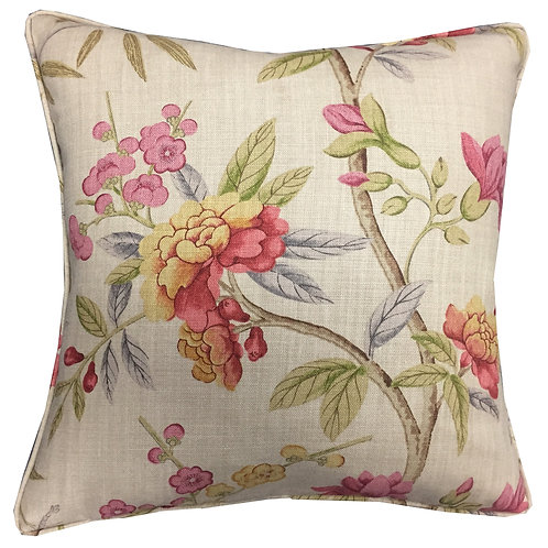 G P & J Baker 'Peony Blossom' Floral Linen Cushion Cover