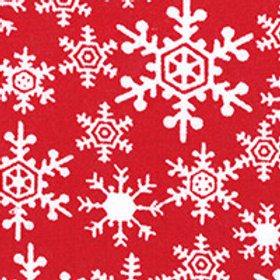 **SPECIAL** Red & White Snowflakes Quilt Fabric