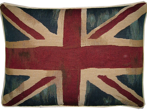 Vintage Style Union Jack Flag Tapestry Oblong Cush