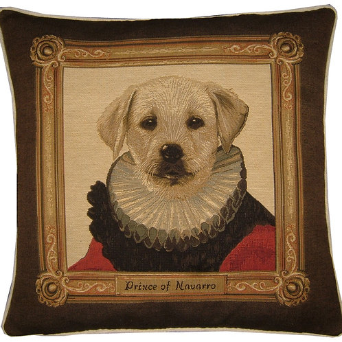 Thierry Poncelet Labrador Puppy Red Tapestry Cushion Cover